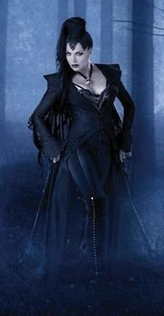 """The coat cut short at the front and trailing at the back, that the Evil Queen Regina wears in the episode """"True North"""" of Once Upon a Time, is similar to the riding outfits worn by Princess Isabella (which Maddie borrows) in Madison Lane and the Wand of Rasputin. http://www.amazon.com/dp/B00K1Q6ZN4/ellepins-20    For more Villain Love: https://www.pinterest.com/thevioletvixen/villain-love/"""