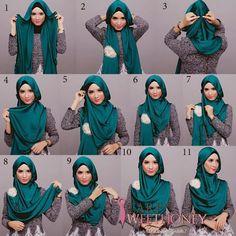 lagi yang mau jilbab atau hijab warna hijau simak tutorialnya dibawah ini  hijabsstyle.com