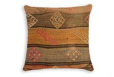 Guvenc 16x16 Wool Pillow, Multi on OneKingsLane.com