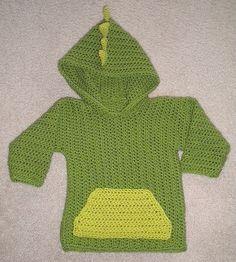 Dinosaur Hoodie pattern by Darla Sims