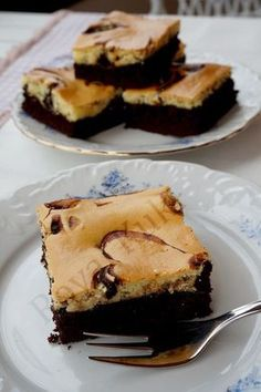 Krem Peynirli Brownie , Marbled Cream Cheese Brownies
