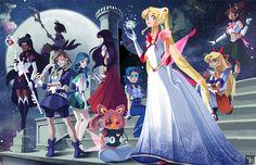 The Sailor Moon Directory Sailor Moon Character, Sailor Moon Fan Art, Sailor Saturn, Sailor Moon Crystal, Princess Serenity, Moon Pictures, Lunar Chronicles, Sailor Scouts, Manga