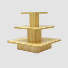 This Wood Square 3 Tier Display Table Wiil Work Great For Displaying  Clothes, Magazines And Just About Anything You Can Think Of