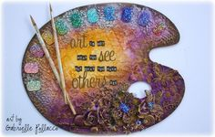 An Art Palette Canvas Video Tutorial {Flying Unicorn} & AWESOME Shimmerz News!! (via Bloglovin.com )