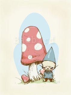 Gnome by badbird on Etsy, $25.00