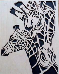 Stencils, Stencil Art, Stencil Designs, Animal Silhouette, Silhouette Art, Stencil Animal, Giraffe Art, Motifs Animal, Wood Burning Patterns