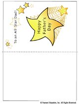 """Free Printable """"Happy Father's Day"""" Card. #FathersDay #Dads #cards #freebie"""
