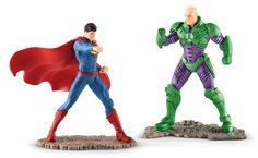 Superman vs Lex Luthor Justice League DC Comics superhero vs villian scenery pack Schleich | www.minizoo.com.au