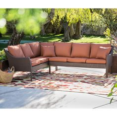 Belham Living Devon All Weather Wicker Patio Sofa Sectional Set | from hayneedle.com$1999.99