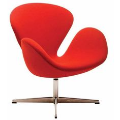 Glider Rocker Recliner, Swan Chair, Copenhagen Hotel, White Office, Arne Jacobsen, Lowes Home Improvements, Occasional Chairs, Red Fabric, Upholstered Chairs