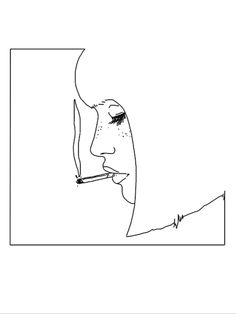 Lines コ portrait young woman smoking cigarette / drawing drawing minimally illust . - Lines コ portrait young woman smoking cigarette / drawing drawing minimally illust …, - Smoke Drawing, Line Drawing, Cigarette Drawing, Art Sketches, Art Drawings, Minimal Drawings, Chalk Drawings, Drawing Faces, Art Inspo