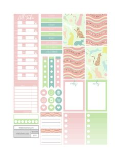 Free Printable Playful Cats Planner Stickers from Fit Life Creative