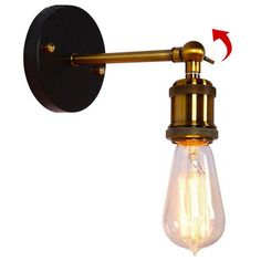 Led Indoor Wall Lamps Arandelas Rustic Retro Wall Lamp Vintage Home Lighting Edison Stair Light Style Loft Industrial Wall Sconce Applique Murale Led Be Friendly In Use