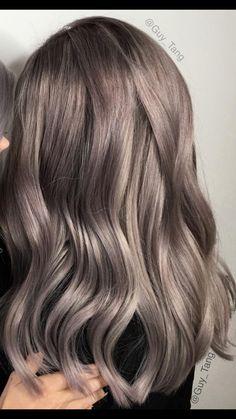 ❤️ Mushroom Hair, Ashy Hair, Ash Brown Hair, Silver Grey Hair, Platinum Blonde Hair, Haircut And Color, Face Hair, Hair Highlights, Balayage Hair