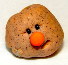 ORANGE  RAINBOW Edition Polymer Clay Pet RocK by KatersAcres