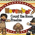 Freebie Thanksgiving Count The Room Activity!  This Thanksgiving themed Count the Room activity is a fun way to engage your students and gets them ...