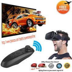 Latest Technology 3D Glasses Virtual Reality With Headset for Smartphones  **See my Video how it works == https://youtu.be/X08-L6je-VQ**  3D Glasses Virtual Reality,the 4th Gen VR Shinecon, breaking the conventional definition of VR, designed w...