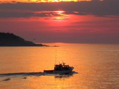 Maine lobster boat at sunrise.  Photo courtesy of Billy Kitchen