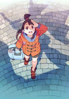 Primeros diseños de personajes del Anime para televisión de Little Witch Academia.