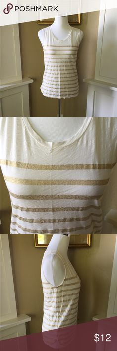 J. Crew Tan Top Cute tank top in great condition. No pet/non-smoking home. J. Crew Tops Tank Tops