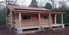 This Handcrafted Cedar Log Cabin Built in a Secret Location in the North of England