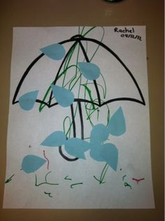 Toddler art ideas for spring. Could use for prepositions
