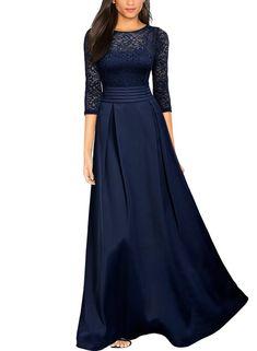 03e84da00daf4 Arolina Women's Formal Floral Lace Vintage Wedding Evening Party Dresses