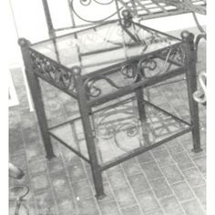 Bedside Table Wrought Iron. Customize Realizations. 881