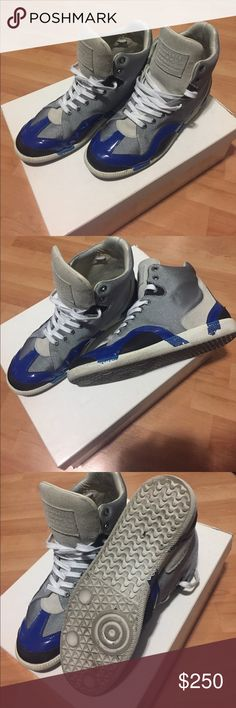 Maison Margiela Authentic Silver Blue Hitop Beautiful hitop Magiela sneakers in great conditions! Comes with original dust bags. Maison Martin Margiela Shoes Sneakers