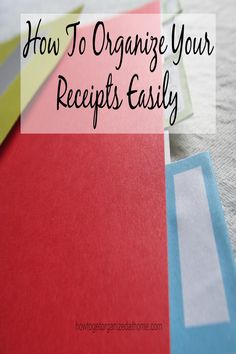 Are you looking to organize your receipts, are they driving you insane? Here is how I am organizing mine!
