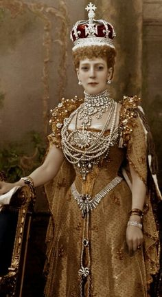 Queen Alexandra of UK - The coronation day