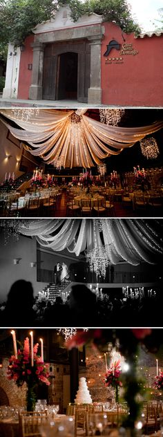I love what they did with the ceiling draping and lighting!