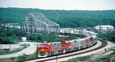 ATSF's 199 train cruises into Lemont, IL on September 2, 1990. Photo by Jerry Jackson.
