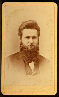 CDV Photo Man Very Long Chin Beard by Bangs Milwaukee Wisconsin