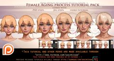 Female Aging step by step tutorial pack(term 42) | Sakimi Chan on Patreon