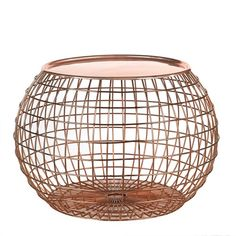Table ball wire copper/copper tray - pols potten