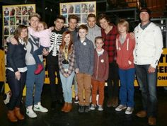 The boys backstage with fans in Birmingham - Mar 22, 2013