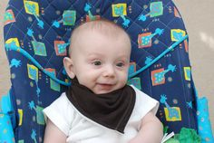 DIY baby bandana bibs... Can't wait to make these... So much cuter than regular bibs!
