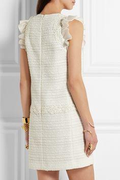 Giambattista Valli | Organza and lace-trimmed tweed mini dress | NET-A-PORTER.COM