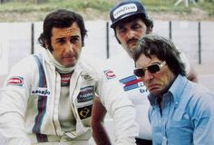 Carlos Pace and Bernie Ecclestone Martini Team Brabham