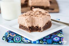 Moonies - a dessert that's just as much to say as it is to eat! Moonies, also know as Chocolate Mousse Brownies, are rich fudgey brownies topped with a creamy chocolate mousse. Chocolate stacked high on top of chocolate - sounds just about perfect to us! Chocolate Chip Bars, Pumpkin Chocolate Chip Cookies, Chocolate Toffee, Semi Sweet Chocolate Chips, Homemade Chocolate, Chocolate Lovers, Homemade Snickers, Chocolate Cupcakes, Chocolate Desserts