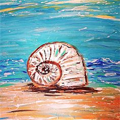 Beach Painting Shell painting