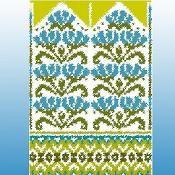 Flowerbed Mittens by Kulabra Designs - Craftsy Mittens Pattern, Knit Mittens, Mitten Gloves, Knitting Stitches, Hand Knitting, Knitting Patterns, Fair Isle Pattern, Fair Isle Knitting, Tapestry Crochet