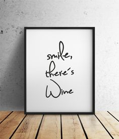 Smile, there´s Wine | INK von farbflut Design auf DaWanda.com