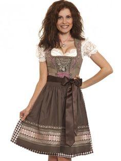 Designer Mini Dirndl Liana (braun, rosa) - TRAMONTANA