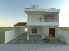 2 Storey House Design, Duplex House Plans, Bungalow House Design, House Front Design, Small House Design, Modern House Plans, Modern House Design, House Layout Plans, House Layouts