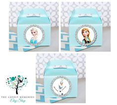 Frozen Olaf Queen Elsa Princess Anna Teal by TheLovelyMemories Elsa Birthday Party, Disney Frozen Birthday, 4th Birthday, Frozen Summer, Frozen Party, Gable Boxes, Queen Elsa, Olaf Frozen, Valentine Box