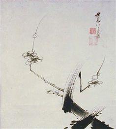 Ito Jakuchu - Plum Blossoms, 18th Century, Scroll...