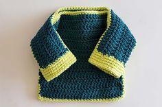 Empieza a tejer con este sueter muy facil a crochet