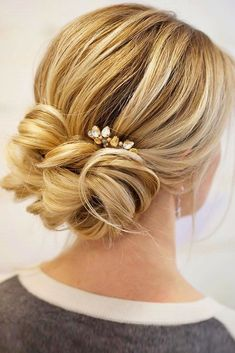 18 Gorgeous Wedding Bun Hairstyles ❤We created a list of wedding bun hairstyles, where you can find the variant for your satisfaction. See more: http://www.weddingforward.com/wedding-bun-hairstyles/ #weddings #hairstyles #weddinghairstyles